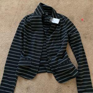 Black and Grey Stripped Blazer